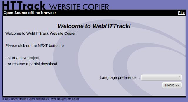 HTTrack Website Copier – Free Software Offline Browser (GNU GPL)